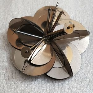 LIFT Mirrored Floral Pin Brooch #449